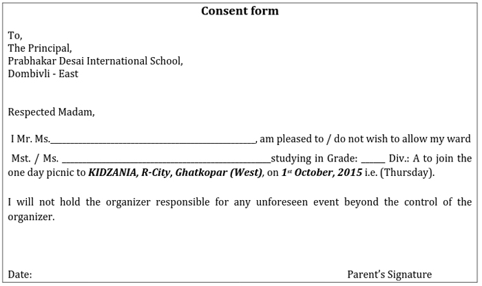 Consent Form In Hindi